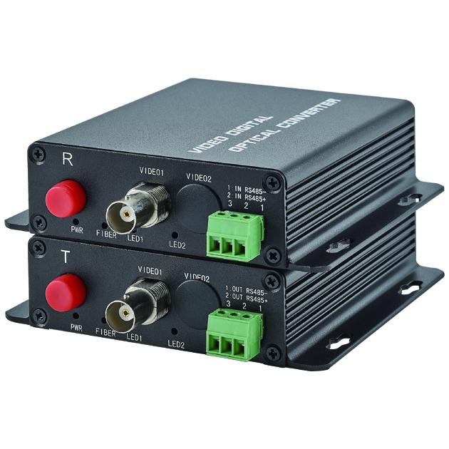 5MP 1CH AHD/CVI/TVI Video and Return Data Fiber Transceiver System 1