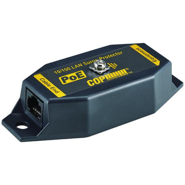 1 Port 10/100 Mbps PoE LAN Surge Protector, 6KV 1