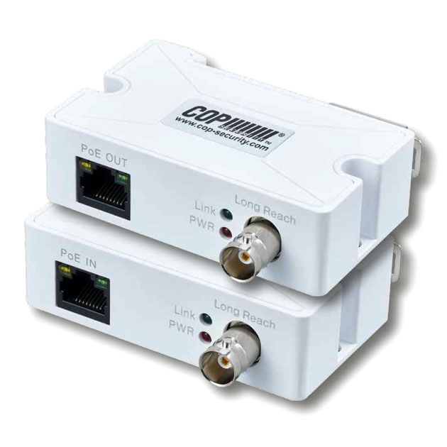 Ethernet Power Over Coaxial Transmitter and Receiver Kit (200Mbps) 1