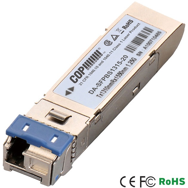 1.25G BIDI-LC Single-Mode T1310/R1550 20km SFP Module 1