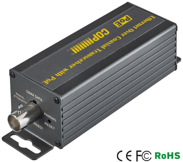 Ethernet Over Coaxial Transceiver with PoE (200Mbps) 1