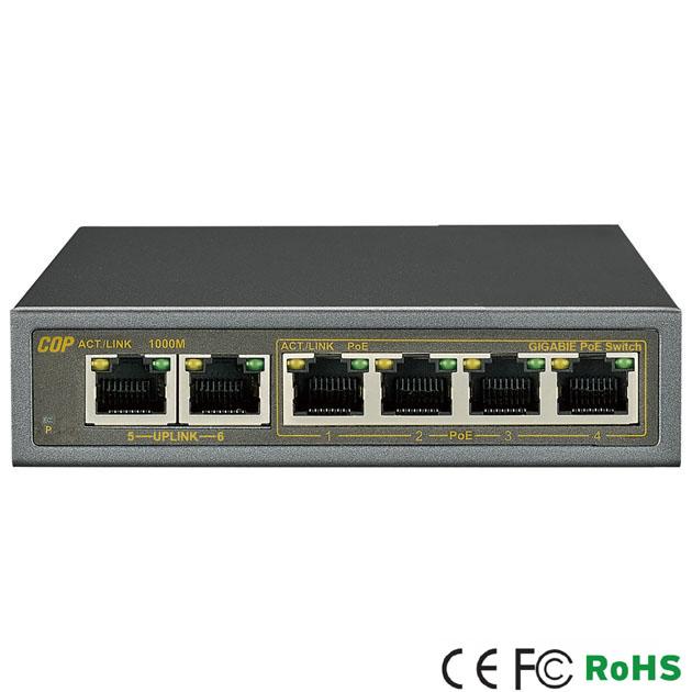 4 Ports Gigabit PoE / 2 Ports Gigabit Uplink Switch 1